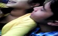 Boyfriend groping his Indian girlfriend