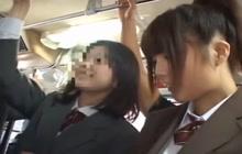 Public bus groping session