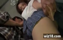 Japanese girl groped and fucked