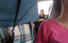 Nerdy girl groped in the bus