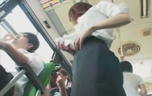 Japanese cutie groped on bus