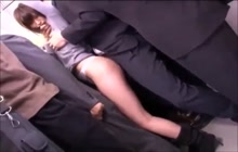 Japanese public groping fun