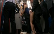 Perfect Japanese babe groped and fucked on a bus