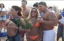 Flashing and groping at beach party