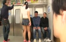Japanese girl with fine booty groped in train