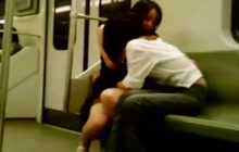 Hot lesbian groping in the subway