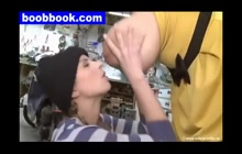 Milena Velba Gets Boobs Sucked By Lesbian Mechanics