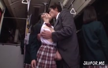 Japanese schoolgirl with nasty businessman