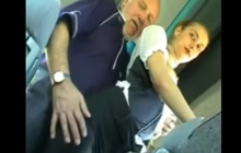 GF groped by an old dude in the bus