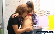 Haruka Itoh gets fingered in public