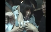 Japanese groping and fucking in public transportation