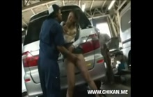 Japanese groping on parking lot