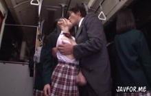 Naughty Japanese fucking on bus