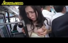 Shy Japanese gets used on bus