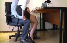 Hot sec groped in the office