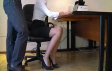 Secretary groped in the office